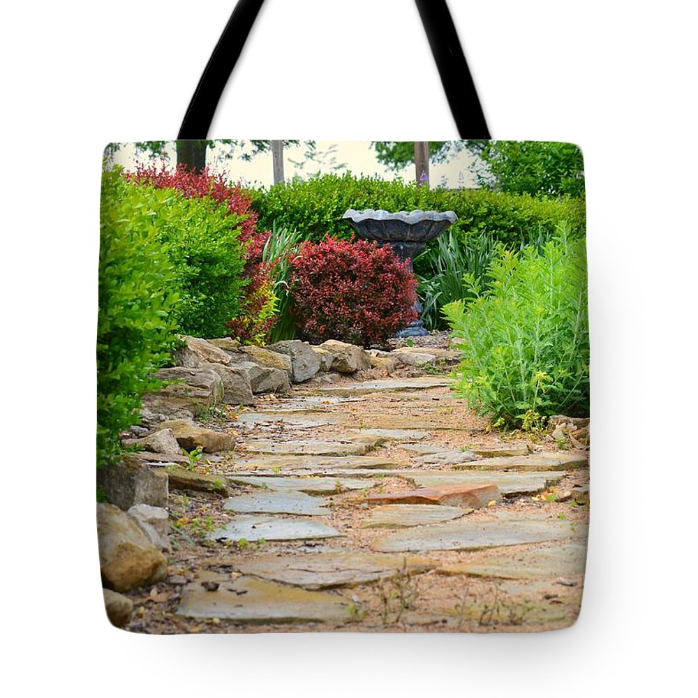 Tote Bag featuring the photograph The Garden Path by Kim Blaylock