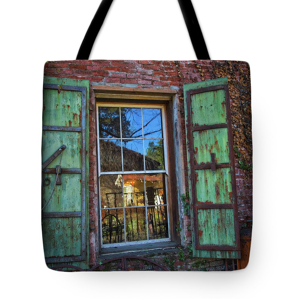 The Garden Window Tote Bag featuring the photograph The Garden Window by Mitch Shindelbower