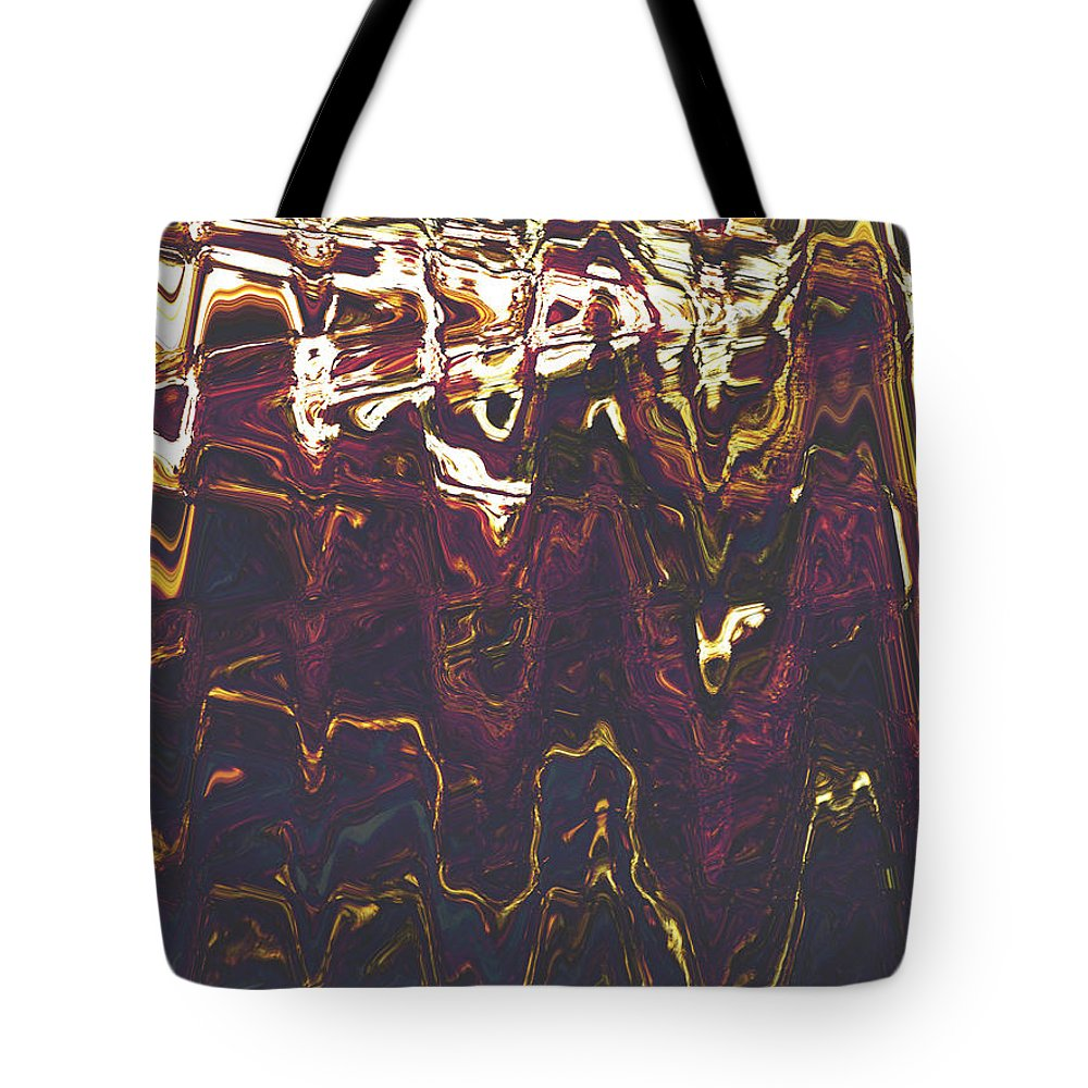 Abstract Tote Bag featuring the digital art The Gathering by Lenore Senior