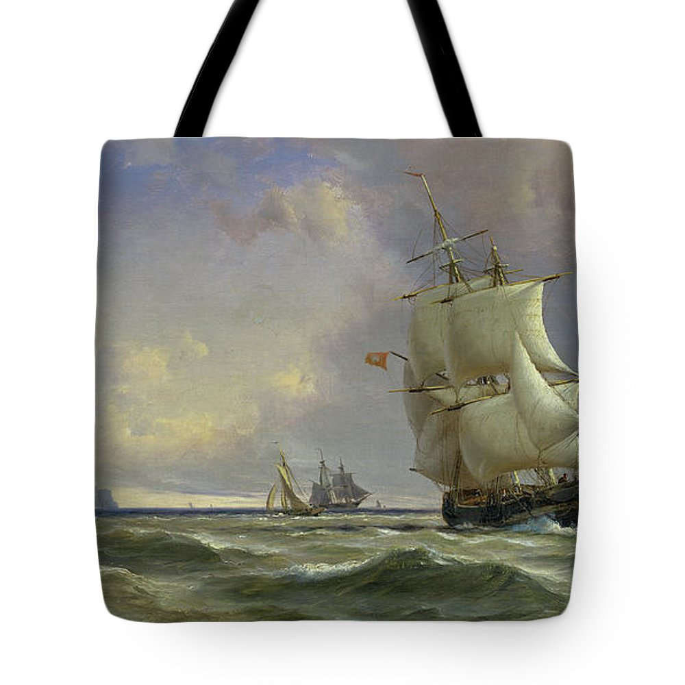 The Tote Bag featuring the painting The Gathering Storm by Anton Melbye