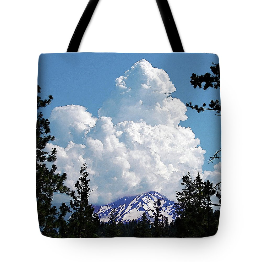 Mountain Tote Bag featuring the digital art The Gathering by Vicki Lea Eggen