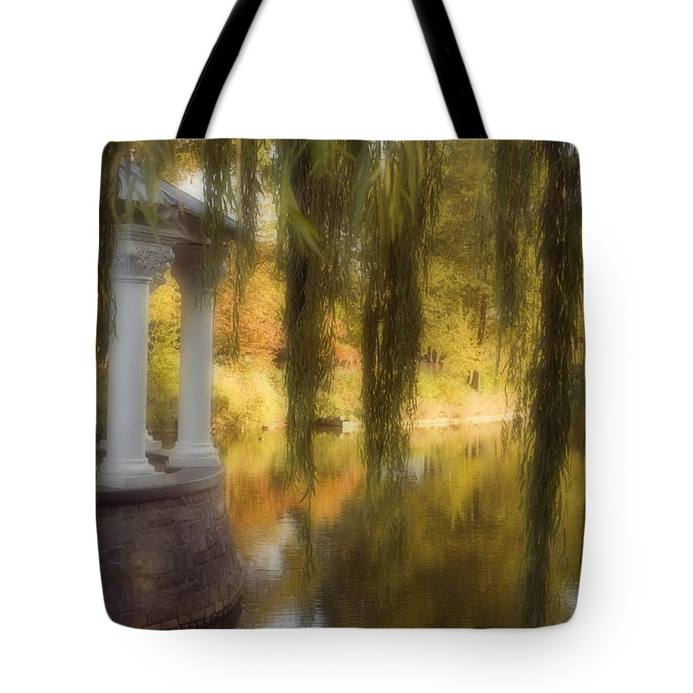 Water Tote Bag featuring the photograph The Gazebo by Ayesha Lakes