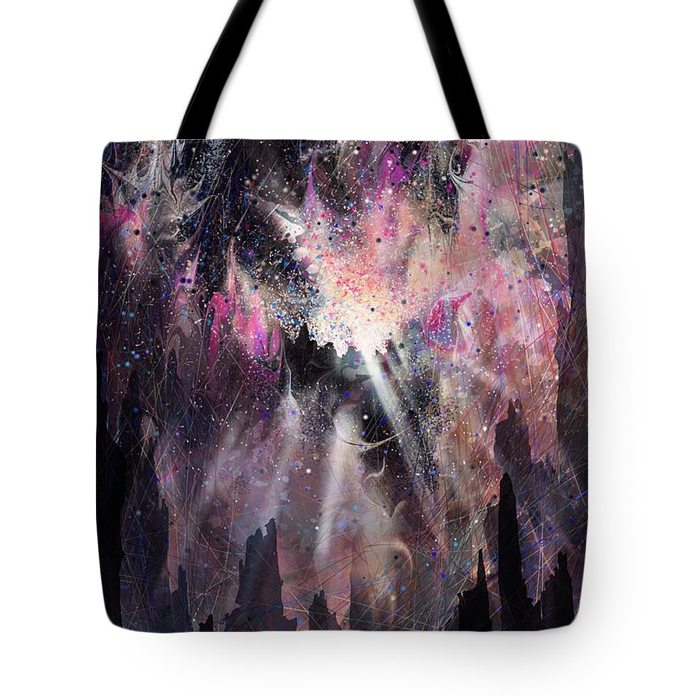 Landscape Tote Bag featuring the digital art The Gift by William Russell Nowicki