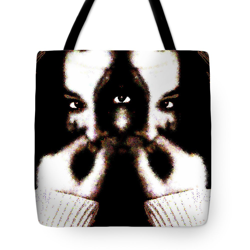 The Giggler Tote Bag featuring the digital art The Giggler by Seth Weaver