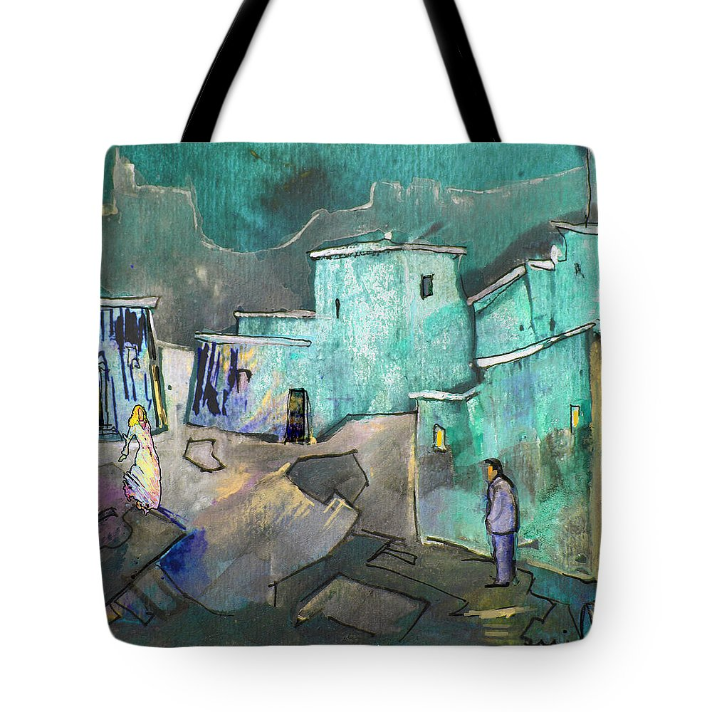 Acrylics Tote Bag featuring the painting The Girl Of His Dreams by Miki De Goodaboom