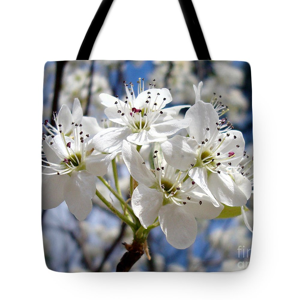 Floral Photography Tote Bag featuring the photograph The Glory Of Spring by Kathy Bucari