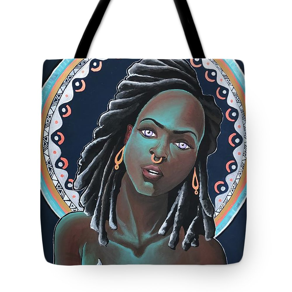 Aura Tote Bag featuring the painting The Glow by Alisha Lewis
