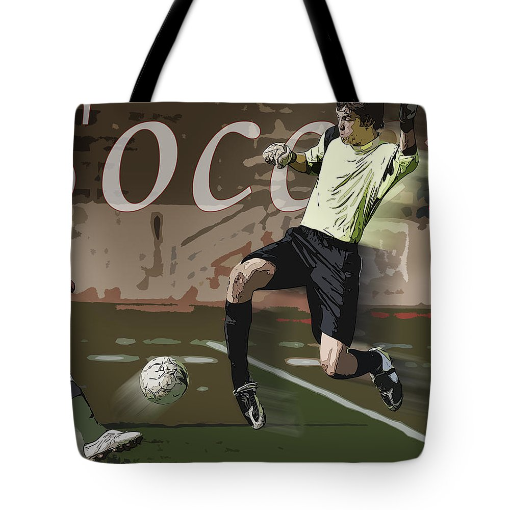 Soccer Tote Bag featuring the photograph The Goalkeeper by Kelley King