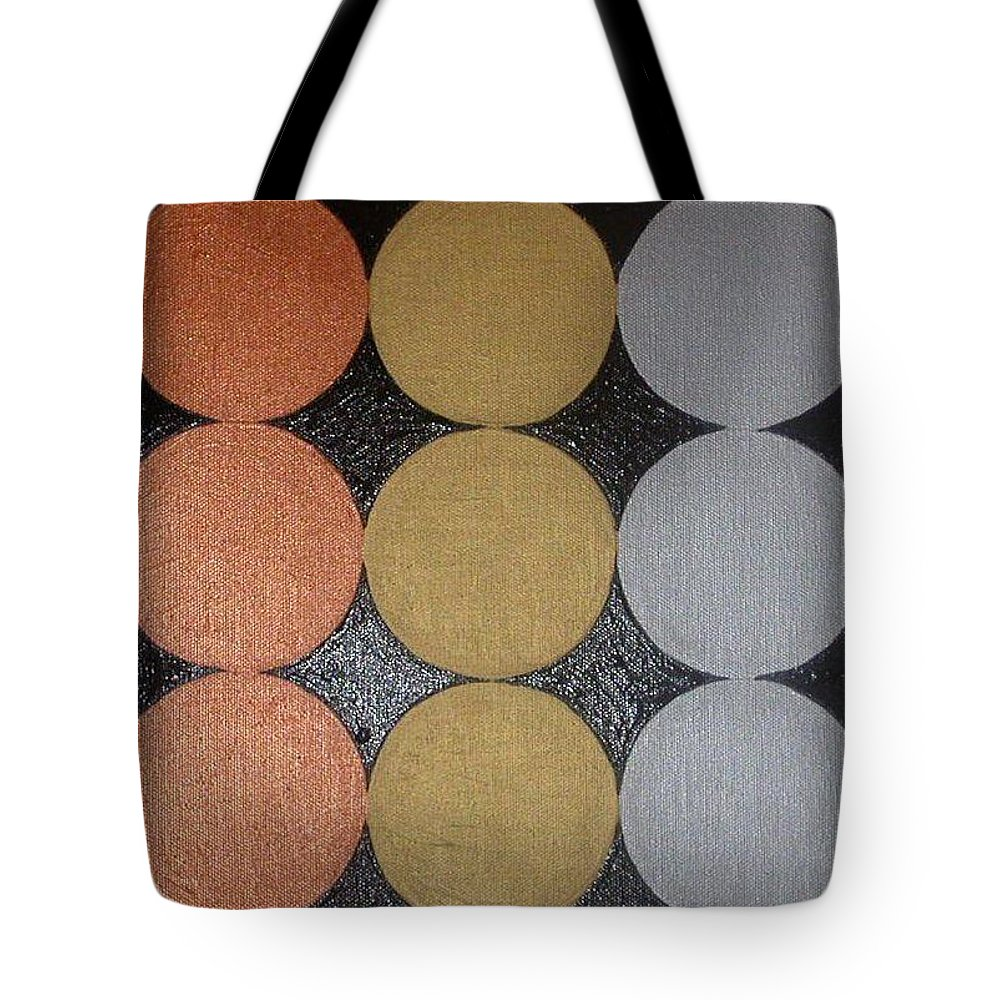 Black Tote Bag featuring the painting The Golden Age by Gay Dallek