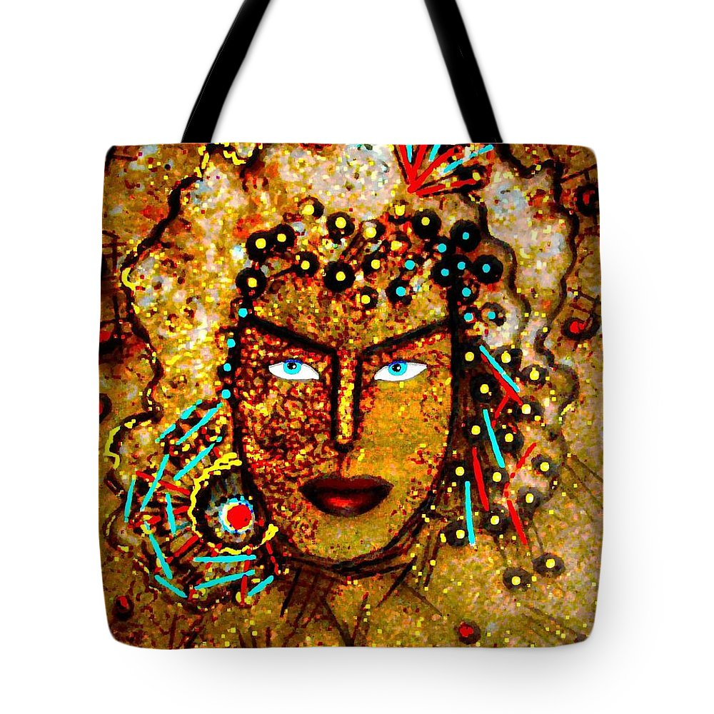 Goddess Tote Bag featuring the painting The Golden Goddess by Natalie Holland