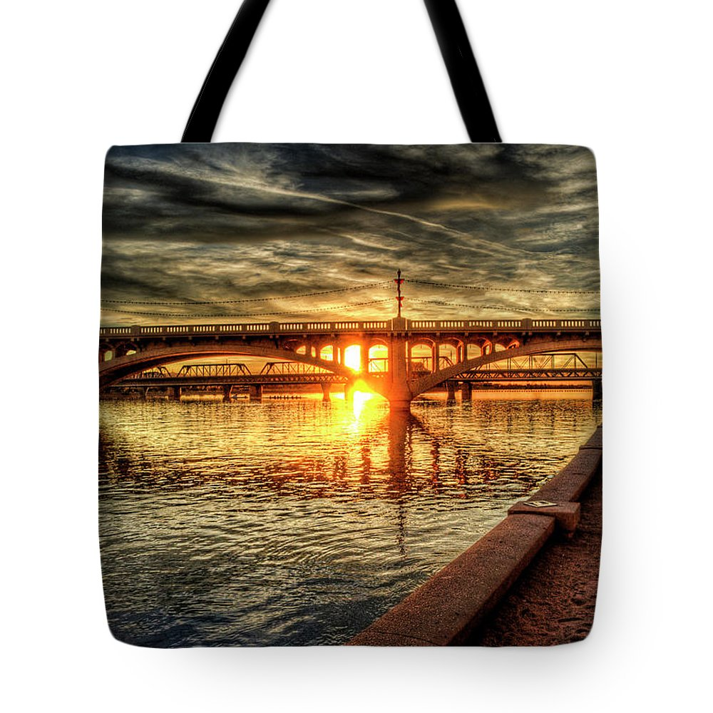 Arizona Tote Bag featuring the photograph The Golden Hour by Saija Lehtonen
