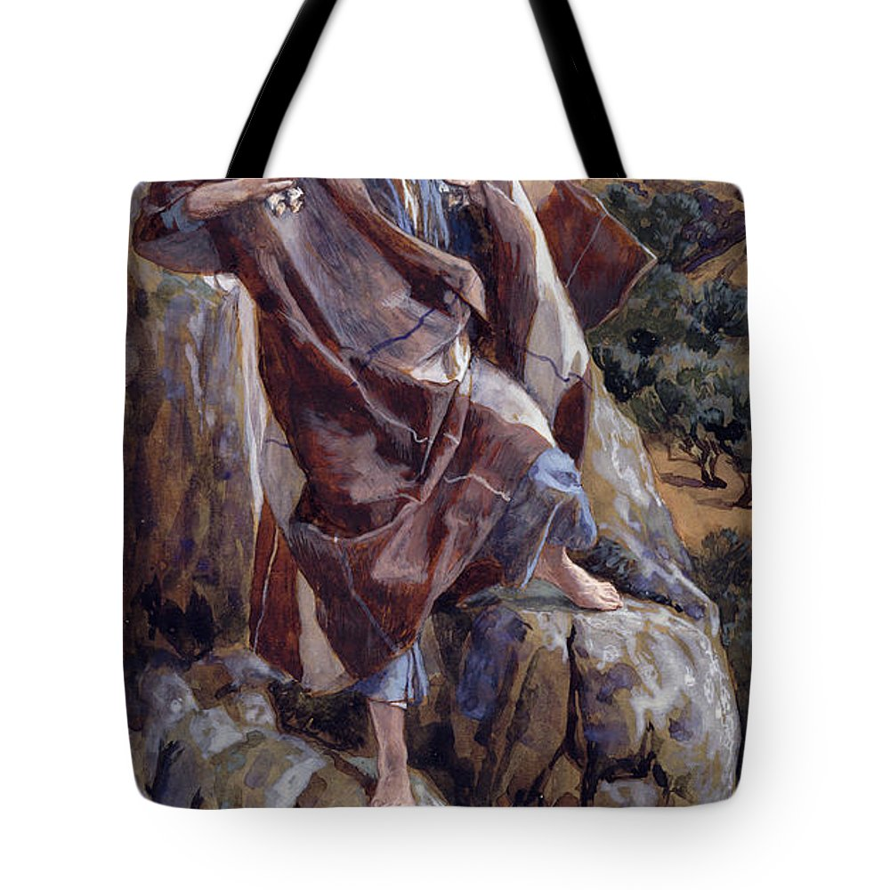 The Tote Bag featuring the painting The Good Shepherd by Tissot