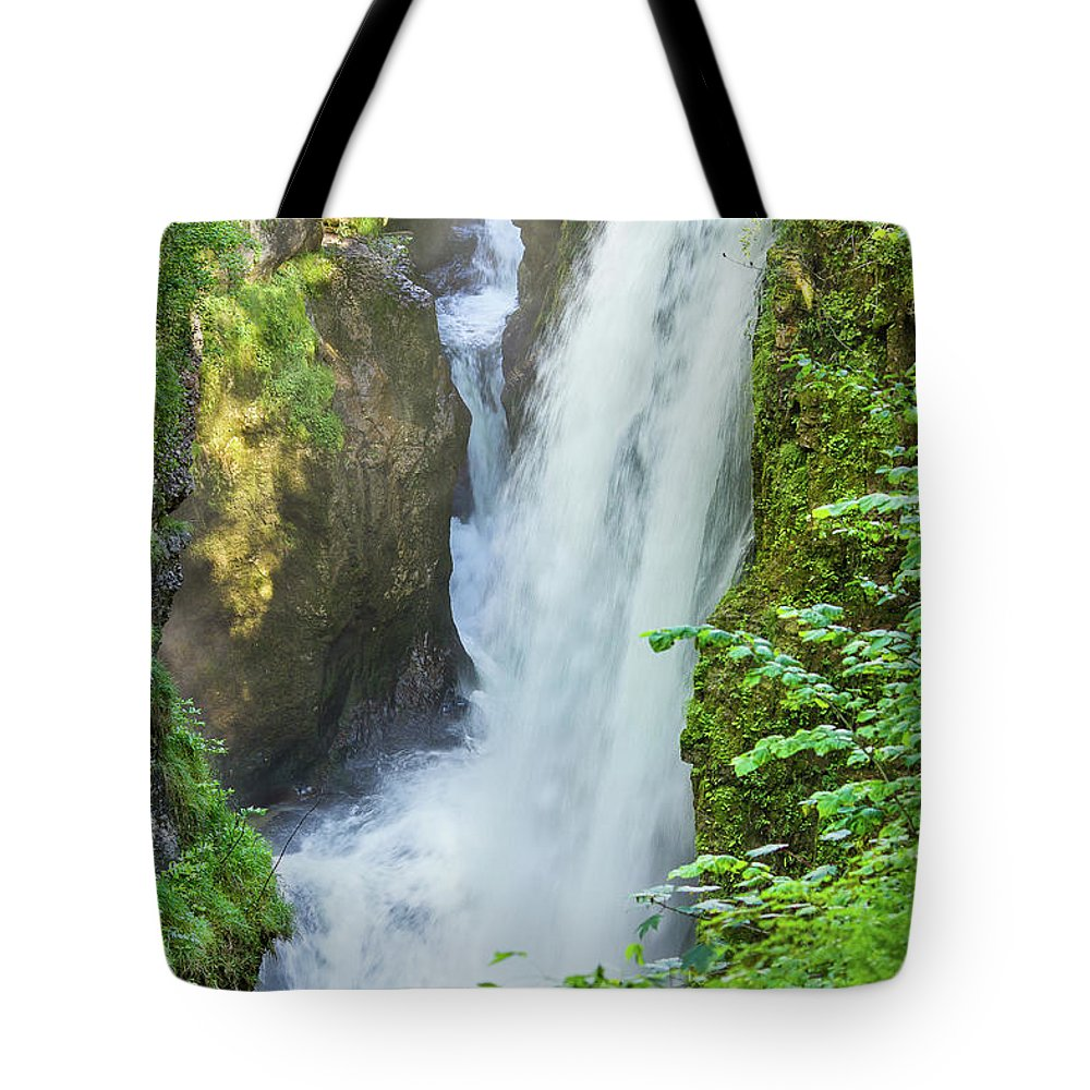 Waterfall Tote Bag featuring the photograph The Gorges Of The Langouette - 4 by Paul MAURICE