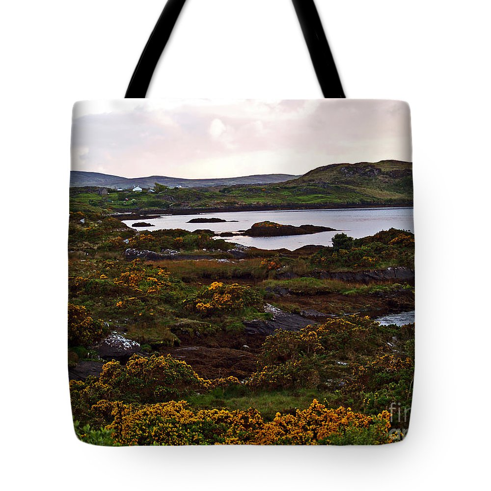 Fine Art Photography Tote Bag featuring the photograph The Gorse It Was Abloomin by Patricia Griffin Brett