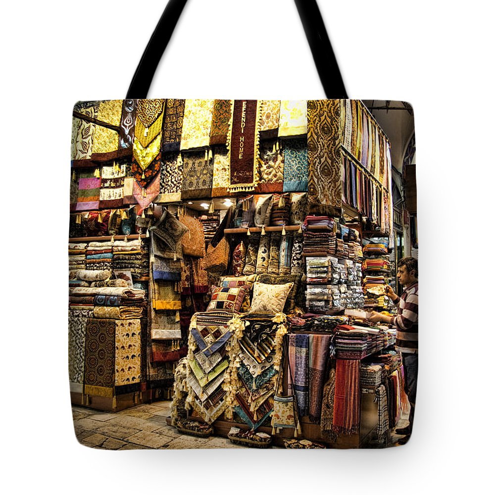 bf10fb3d Turkey Tote Bag featuring the photograph The Grand Bazaar In Istanbul Turkey  by David Smith