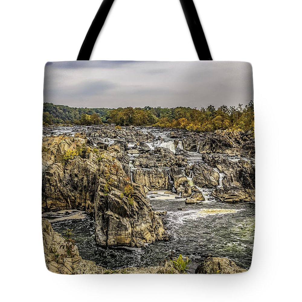 America Tote Bag featuring the photograph The Great Falls Of The Potomac by Nick Zelinsky
