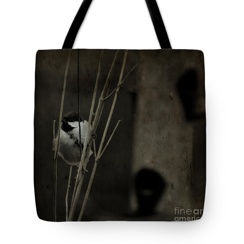 Tit Tote Bag featuring the photograph The Great Tit by Angel Ciesniarska