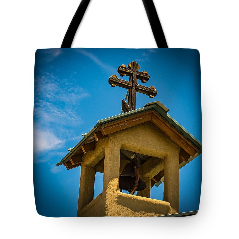 Belfry Tote Bag featuring the photograph The Greek Orthodox Belfry by Paul LeSage