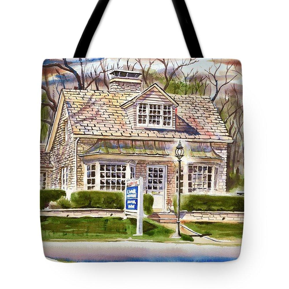 The Greystone Inn In Brigadoon Tote Bag featuring the painting The Greystone Inn In Brigadoon by Kip DeVore