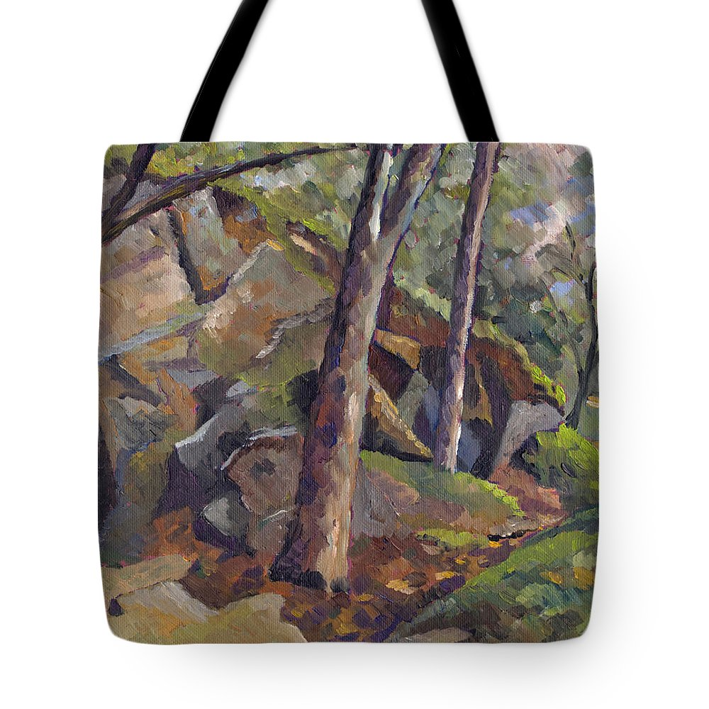 Impressionism Tote Bag featuring the painting The Grotto by Don Perino