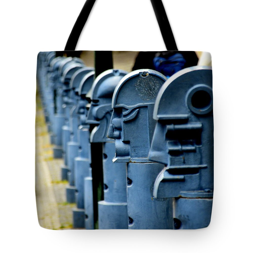 Parking Tote Bag featuring the photograph The Guardians by HQ Photo
