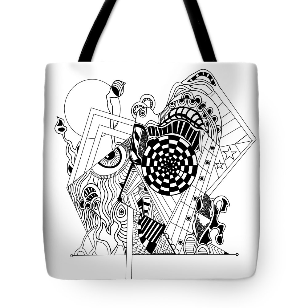Guitar Tote Bag featuring the glass art Guitar Man...  - L'homme Guitare... by Fafard