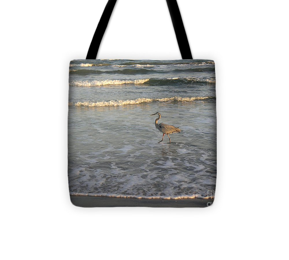 Nature Tote Bag featuring the photograph The Gulf At Twilight - Going My Way by Lucyna A M Green