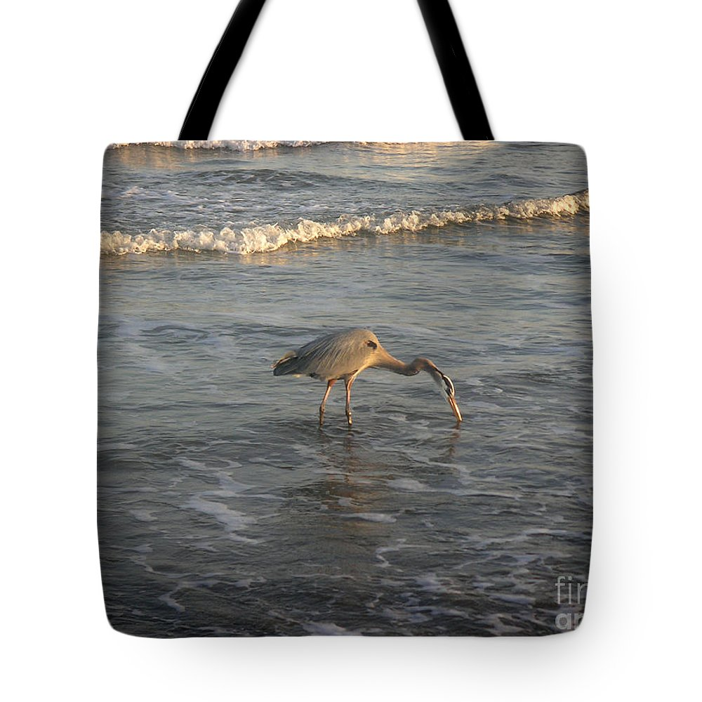 Nature Tote Bag featuring the photograph The Gulf At Twilight - One For The Road by Lucyna A M Green
