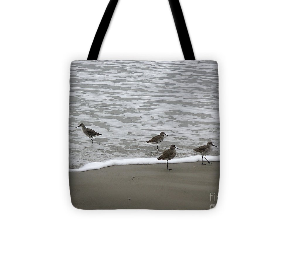 Nature Tote Bag featuring the photograph The Gulf In Shades Of Gray - One Opposed by Lucyna A M Green