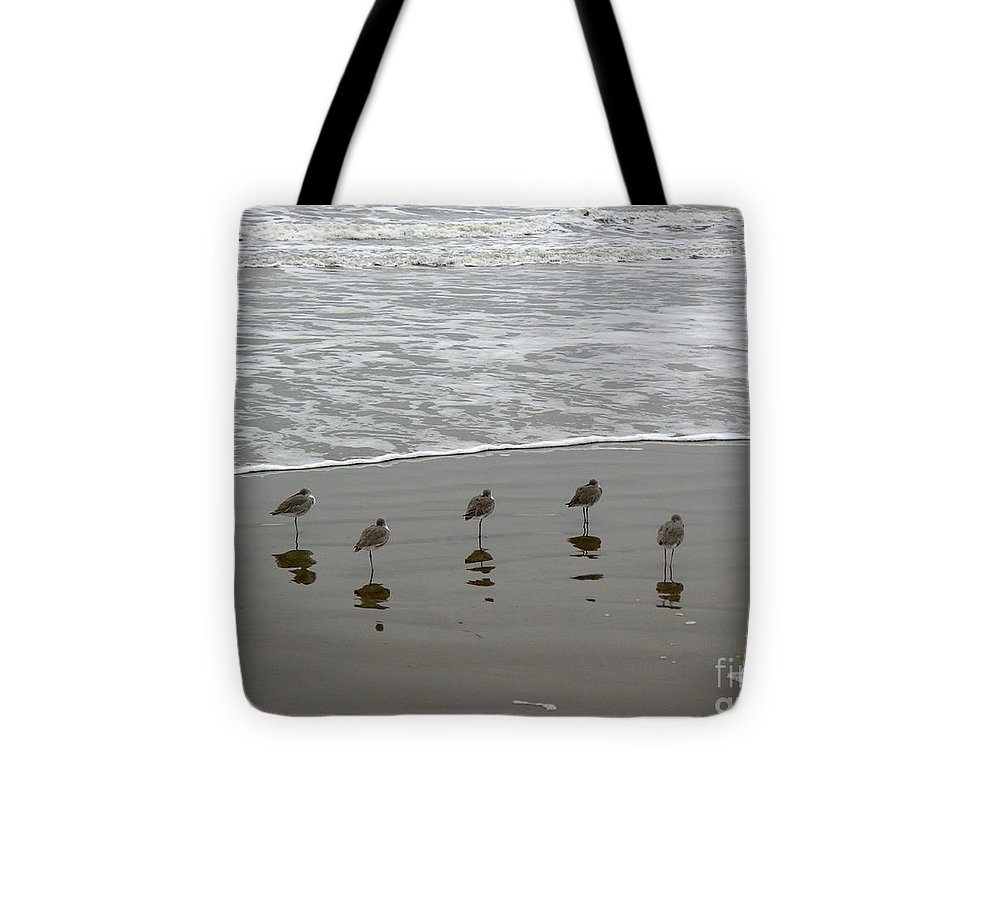 Nature Tote Bag featuring the photograph The Gulf In Shades Of Gray - Perfect Wave by Lucyna A M Green