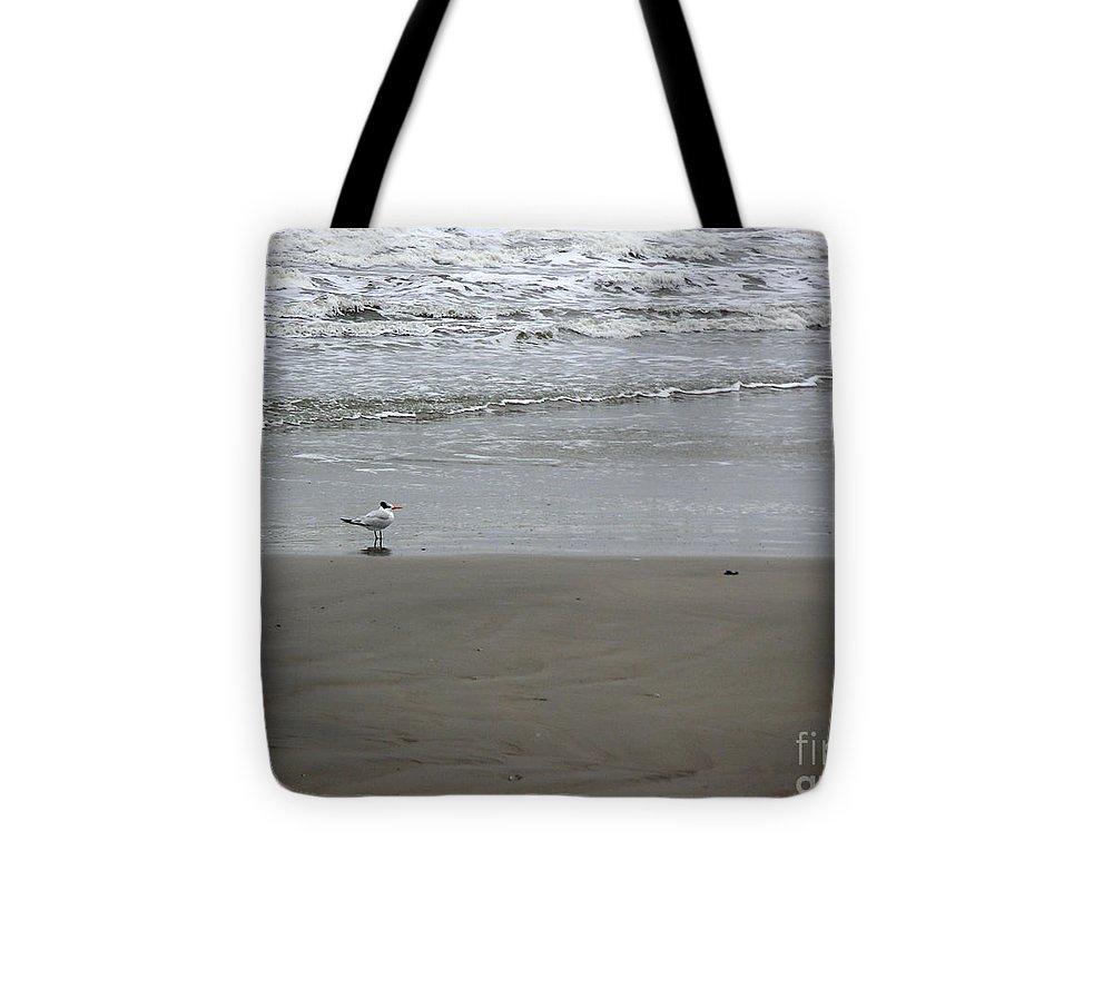 Nature Tote Bag featuring the photograph The Gulf In Shades Of Gray - Seaing by Lucyna A M Green