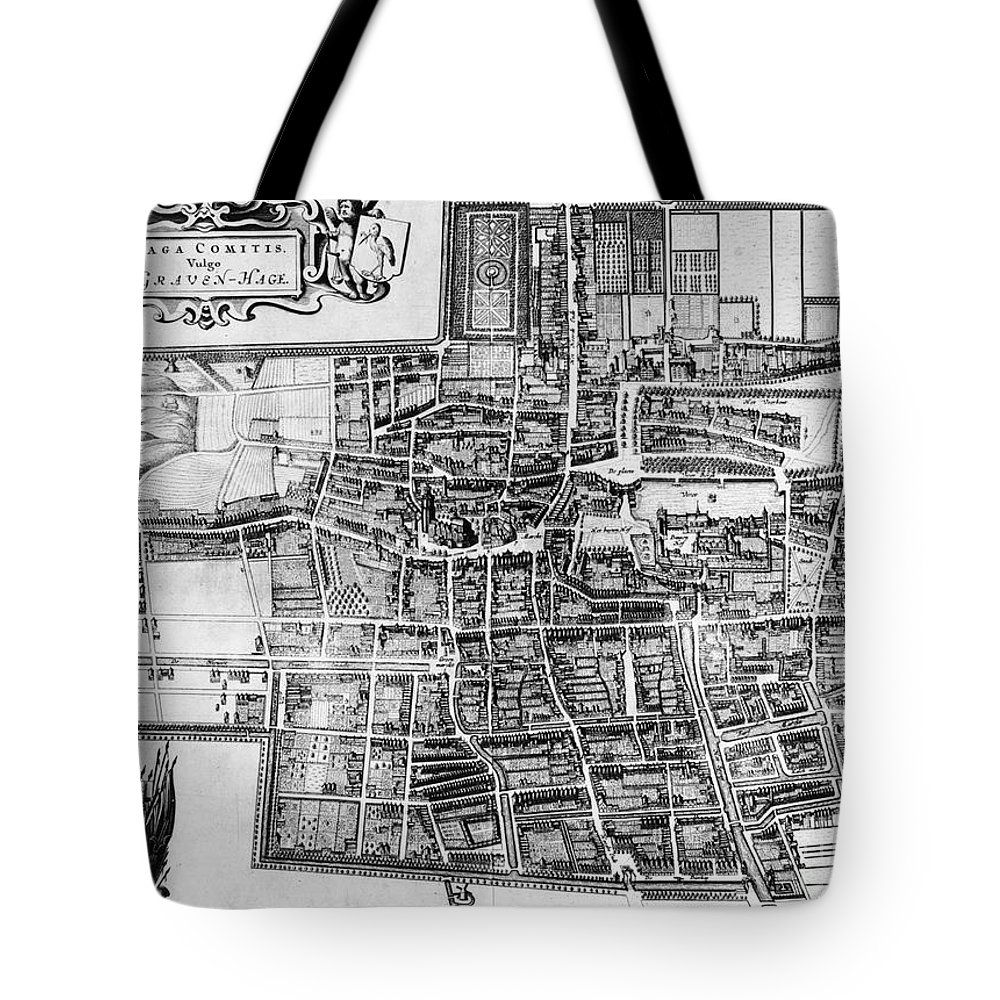 1650 Tote Bag featuring the photograph The Hague: Map, C1650 by Granger