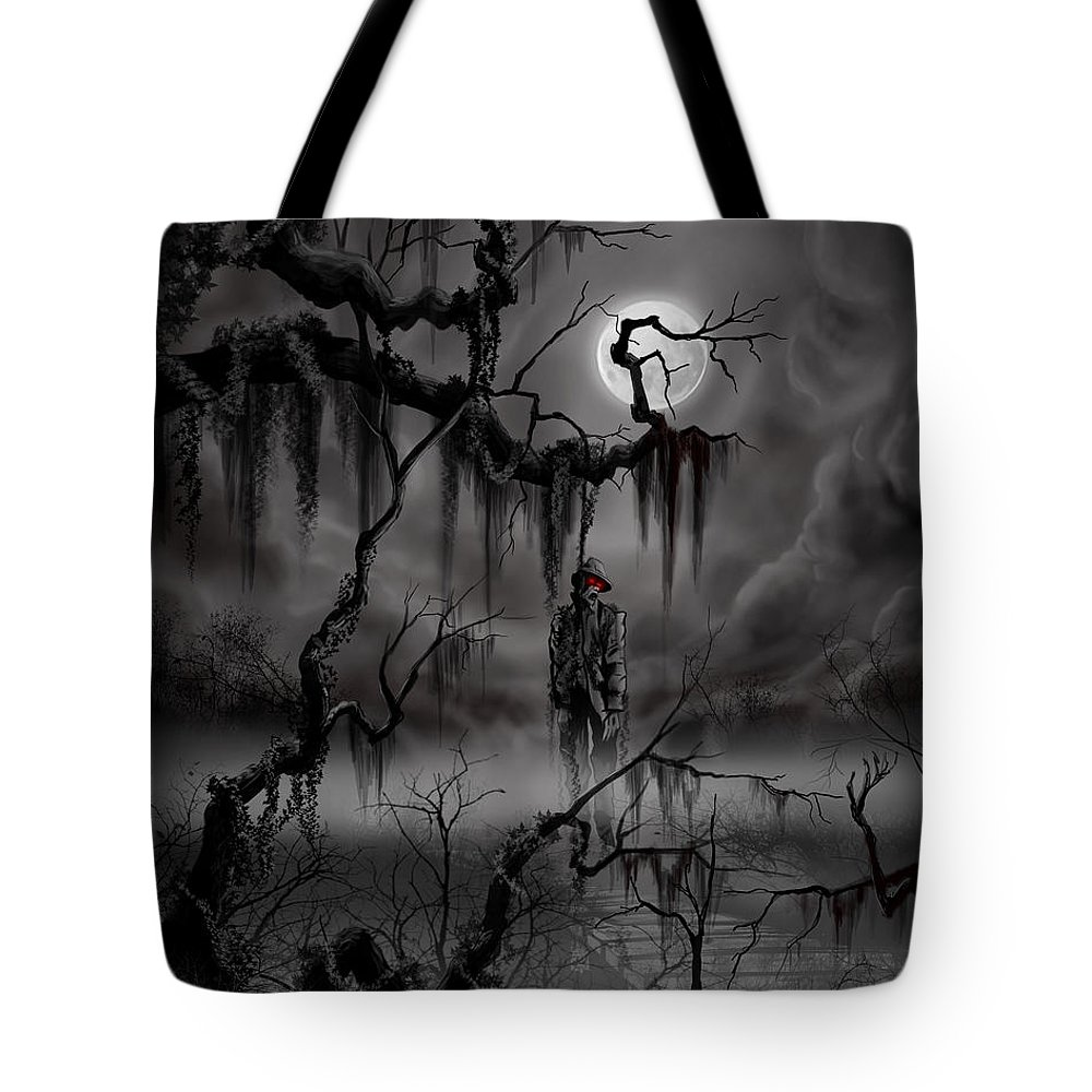 Nightmare Tote Bag featuring the painting The Hangman by James Christopher Hill