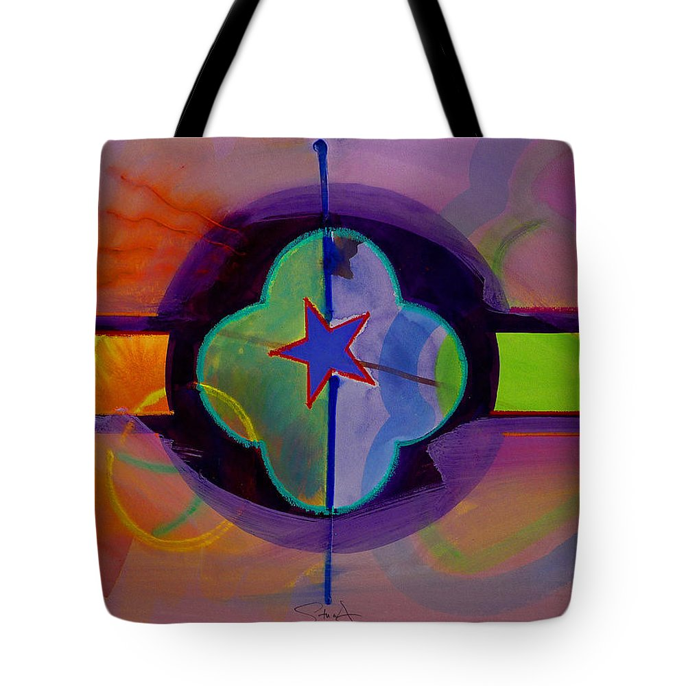 Star Tote Bag featuring the painting The Happy American by Charles Stuart