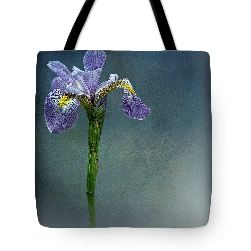 Flower Tote Bag featuring the photograph The Harlem Meer Iris by Chris Lord