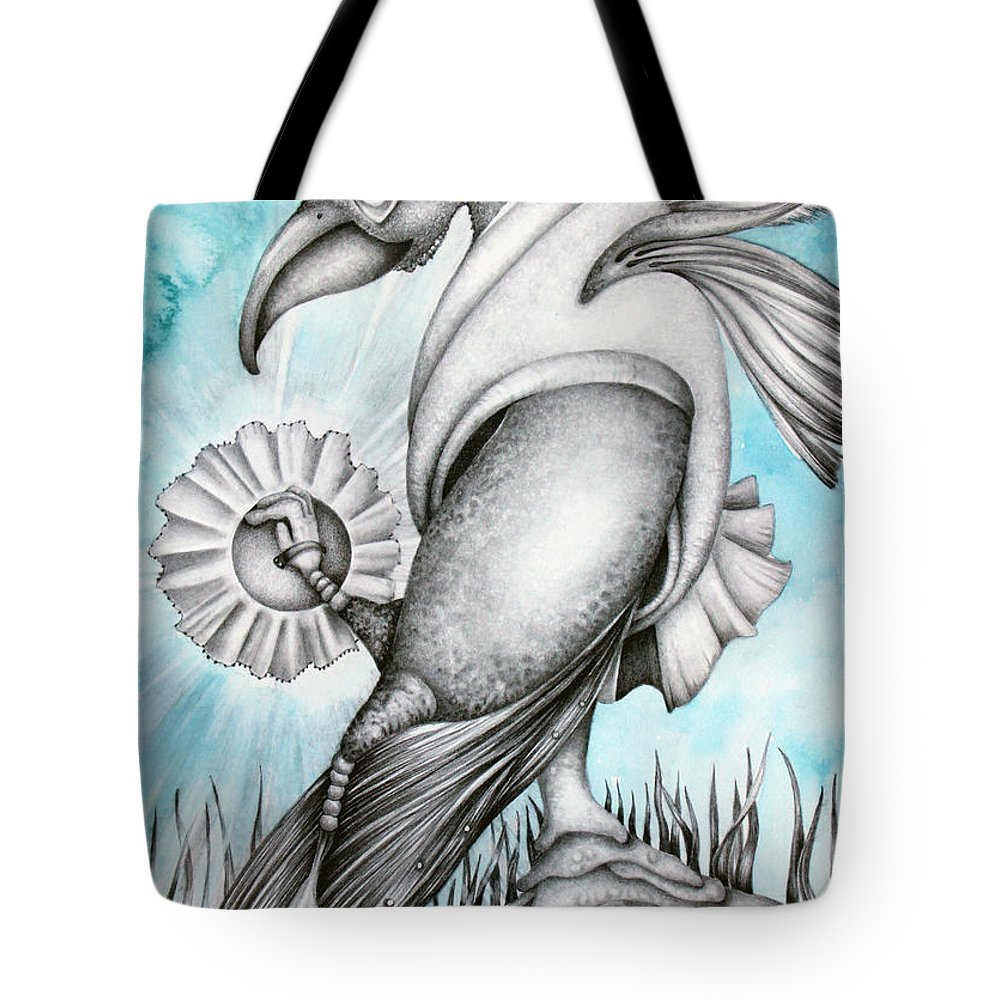 Watercolor Tote Bag featuring the painting The Hatchling by Janelle McKain
