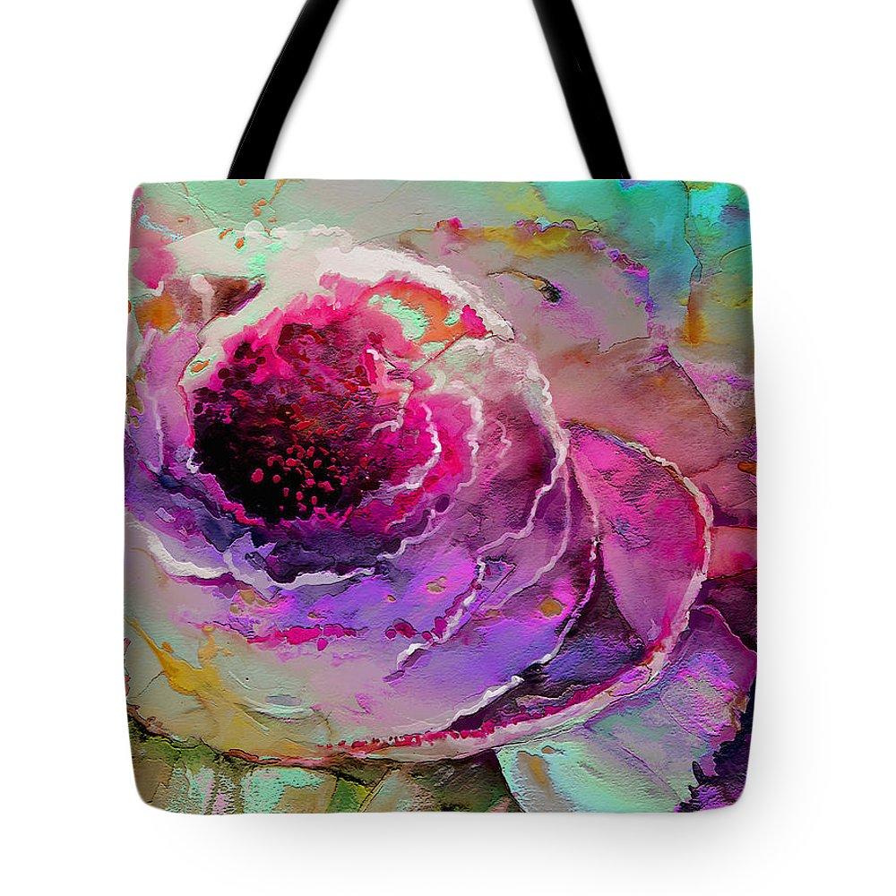 Flowers Tote Bag featuring the painting The Heart Of Nature by Miki De Goodaboom