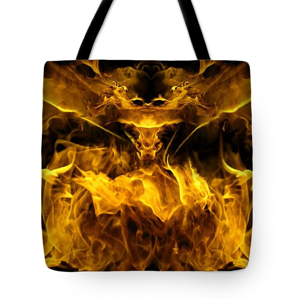 Passion Tote Bag featuring the digital art The Heat Of Passion by Bill Stephens