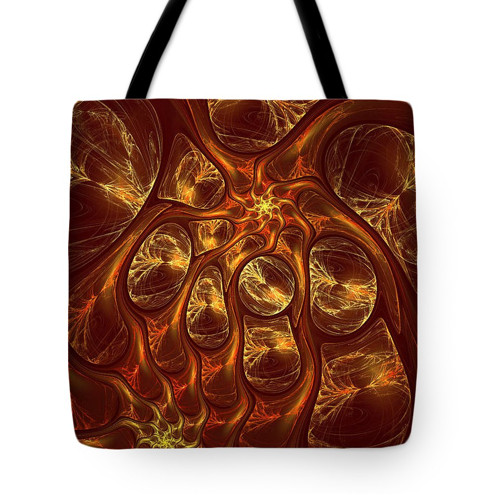 Digital Tote Bag featuring the digital art The Hebben by Deborah Benoit