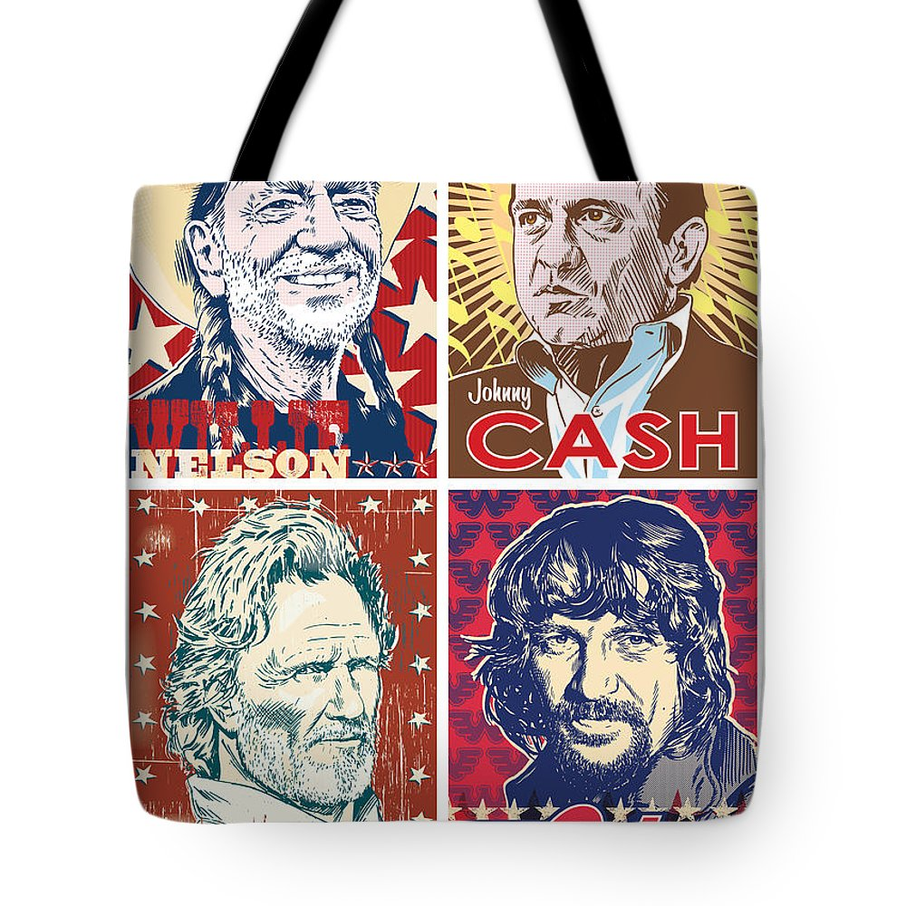 Outlaw Tote Bag featuring the digital art The Highwaymen by Jim Zahniser