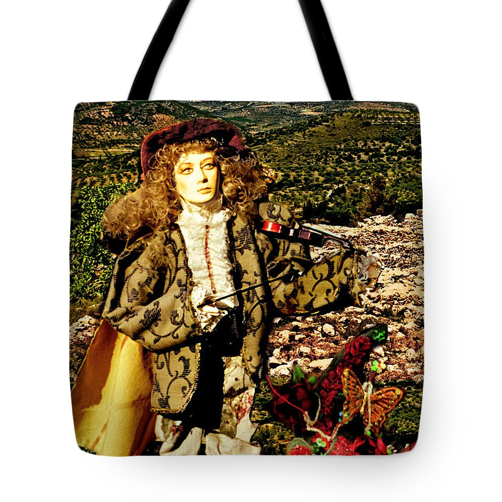Santorini Tote Bag featuring the photograph The Hills Are Alive In Santorini by Madeline Ellis