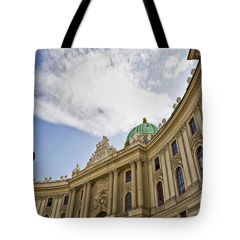 Hofberg Tote Bag featuring the photograph The Hofberg In Vienna by Madeline Ellis
