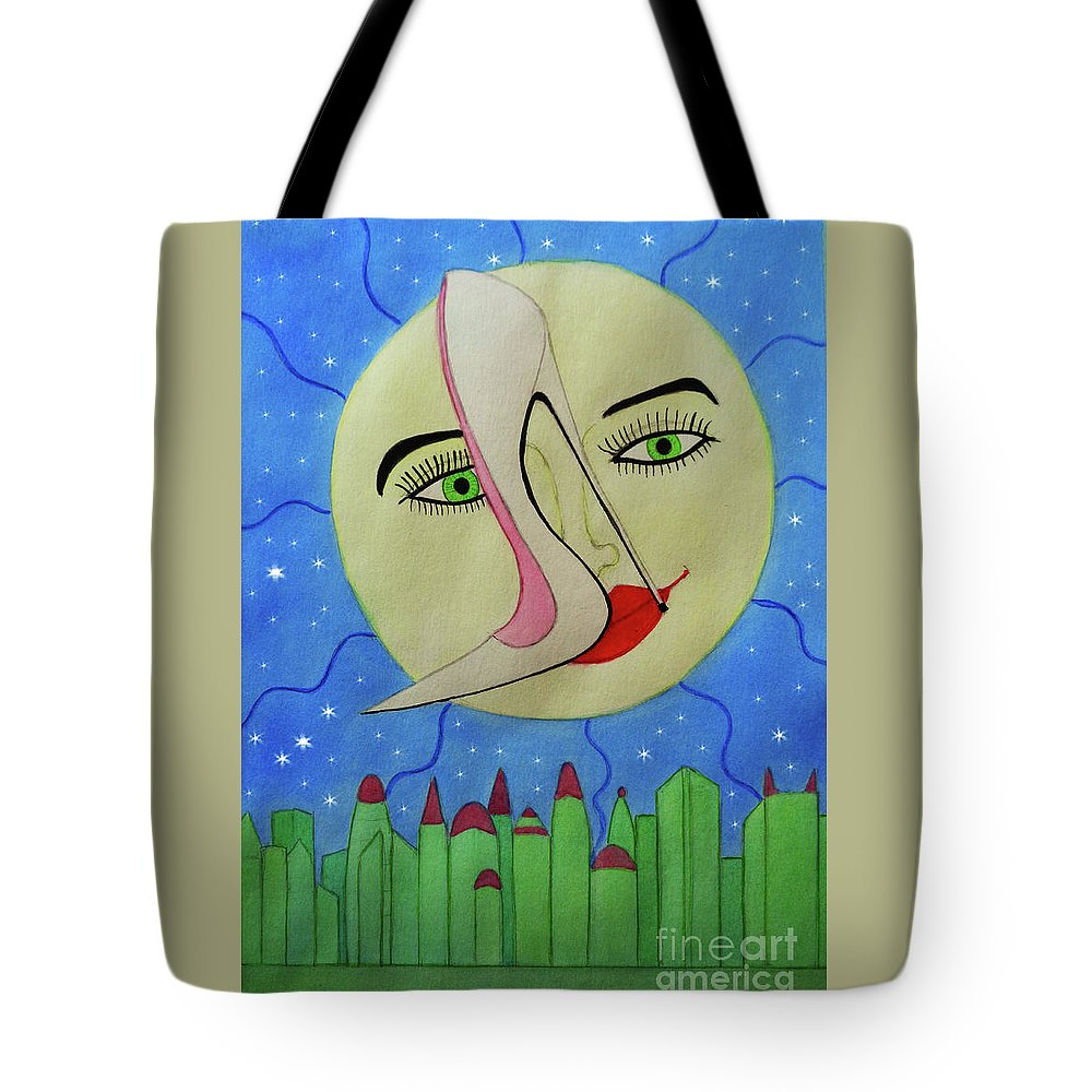 Sexy Shoe Tote Bag featuring the painting The Holography by Don Pedro DE GRACIA