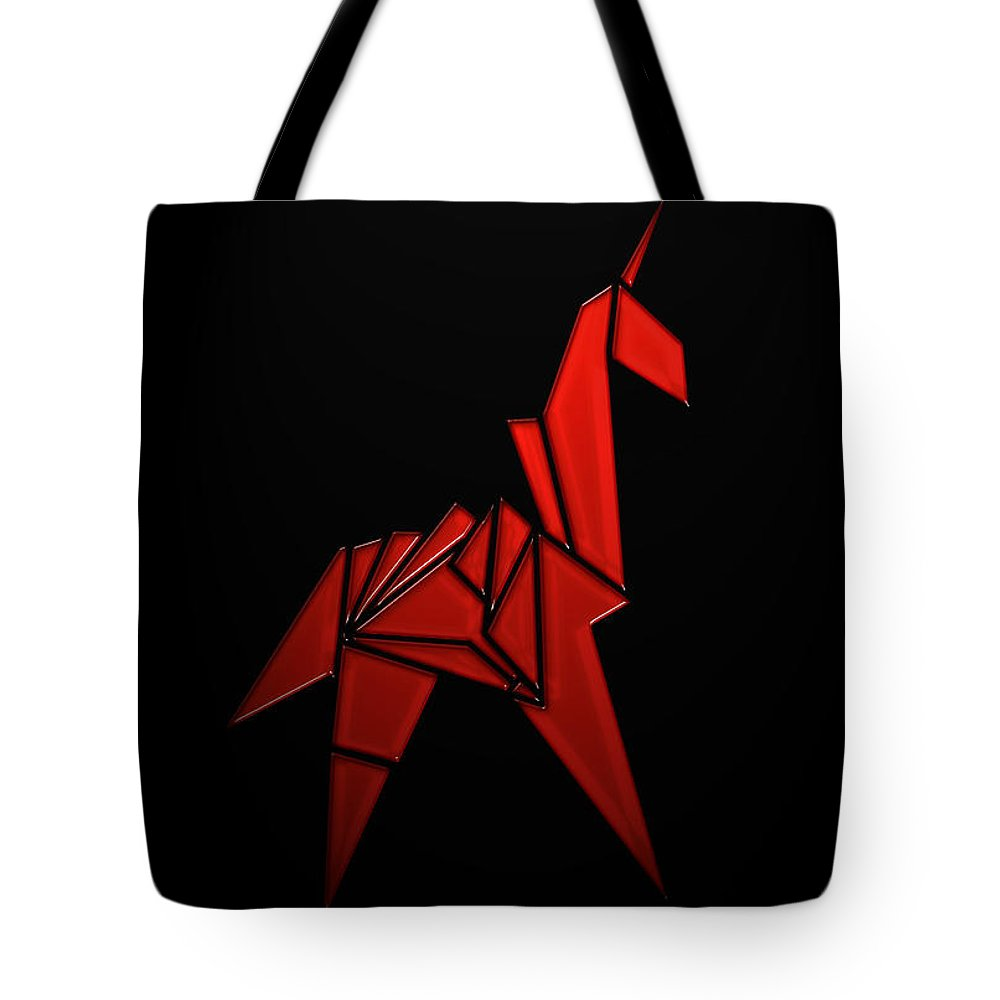 Tote Bag featuring the digital art The Horse by Antoine Boutin