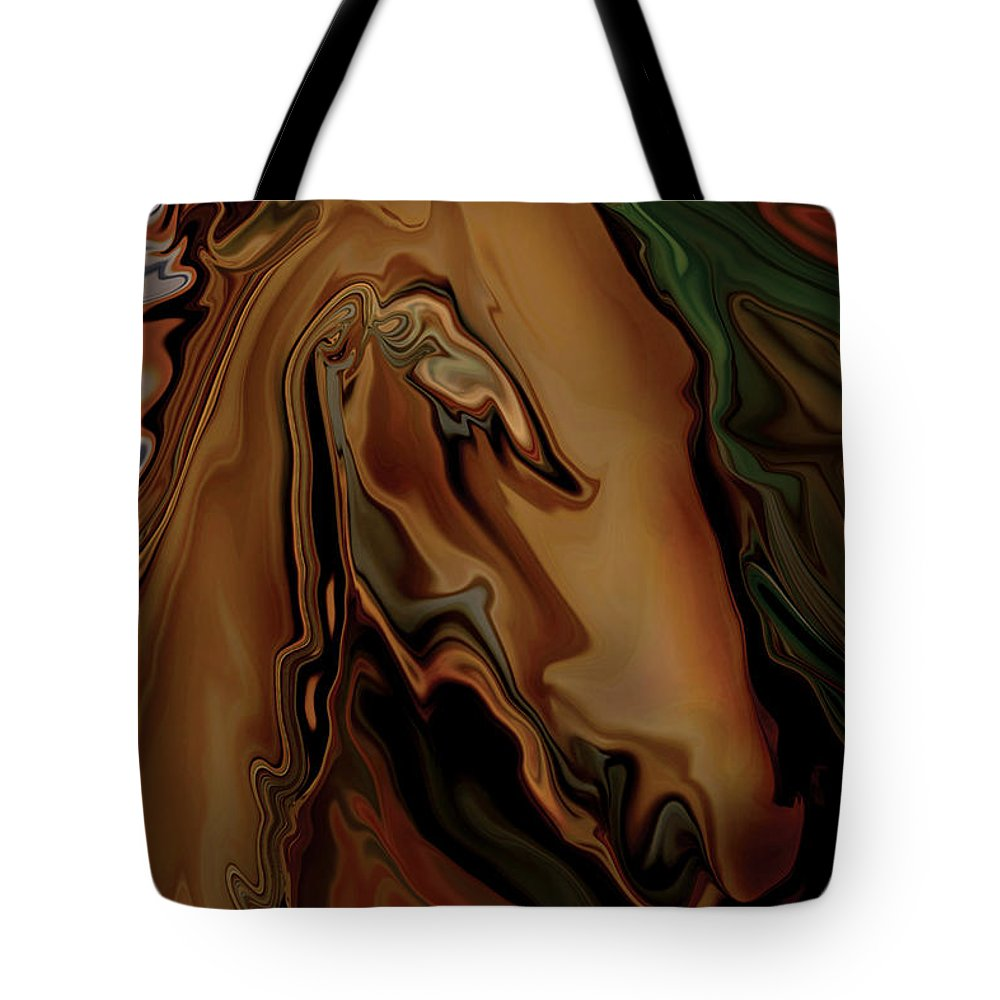 Animal Tote Bag featuring the digital art The Horse by Rabi Khan