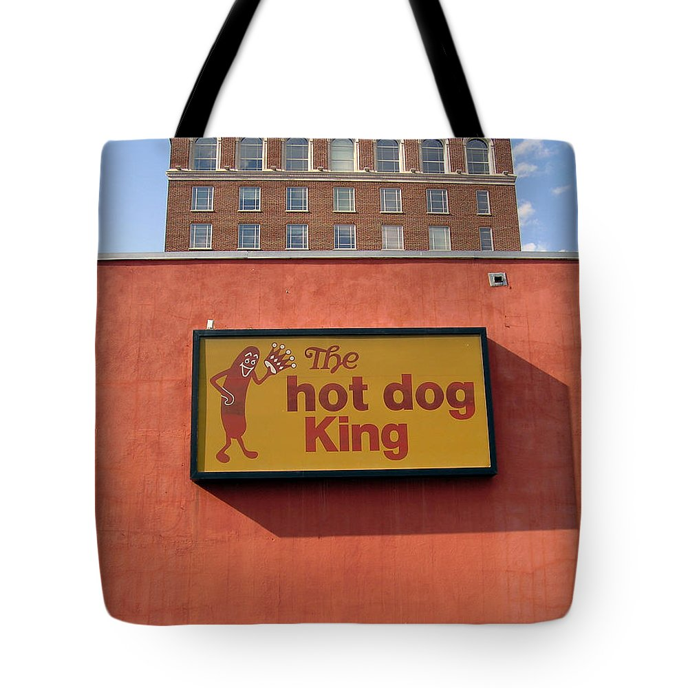 Hot Dog King Tote Bag featuring the photograph The Hot Dog King by Flavia Westerwelle