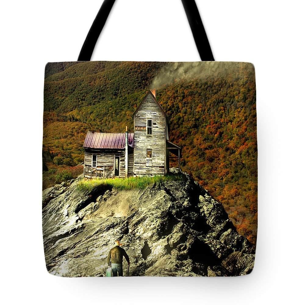 Blue Ridge Parkway Tote Bag featuring the photograph The House Time Forgot Color by Gray Artus