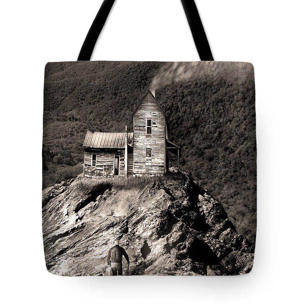 Landscape Tote Bag featuring the photograph The House Time Forgot by Gray Artus