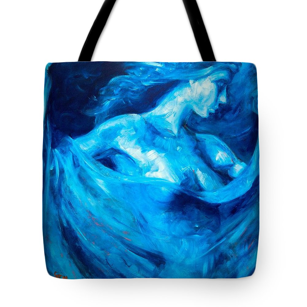 Nude Tote Bag featuring the painting The Huntress by Jason Reinhardt