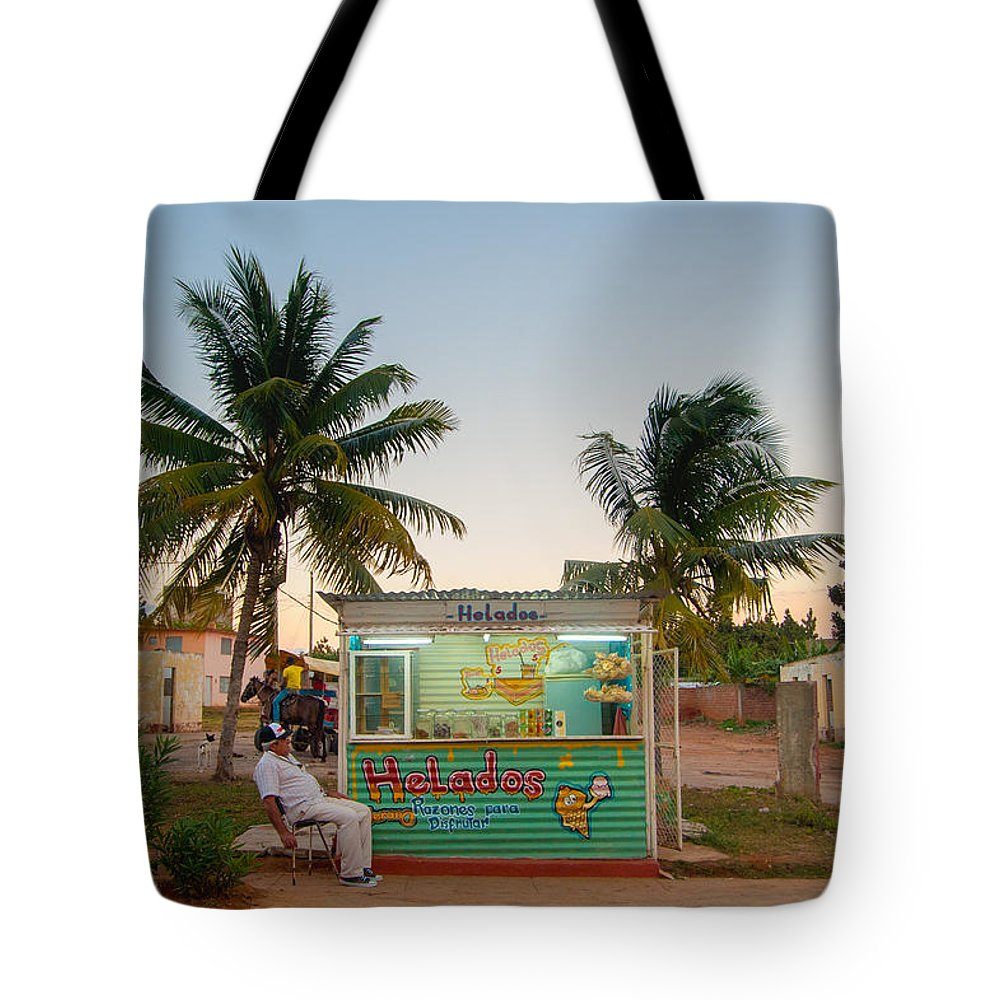 Cuba Tote Bag featuring the photograph The Ice Cream Man by Rob Loud